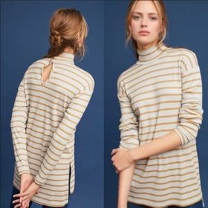 Anthro Vanessa Virginia Striped Turtleneck Tunic S